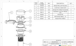 Pivotal Edge Australia - Hinge Pin Reference Parts List